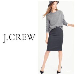 J Crew Gray Wool Pinstripe Pencil ✏️ Skirt Size 4